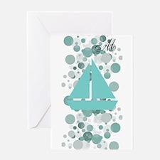Baby Sailor Monogram Greeting Card