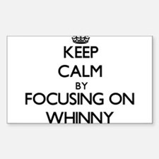 Keep Calm by focusing on Whinny Decal