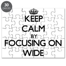 Keep Calm by focusing on Wide Puzzle