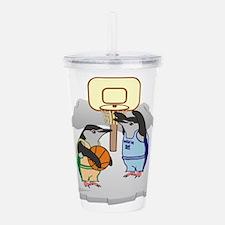 Penguin Basketball Acrylic Double-wall Tumbler