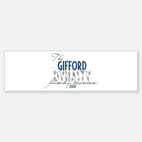 GIFFORD dynasty Bumper Bumper Bumper Sticker