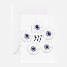White Anemone Wedding Greeting Card