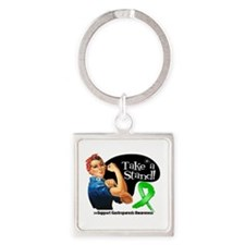 Gastroparesis Stand Square Keychain