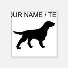 Custom Flat-Coated Retriever Silhouette Sticker