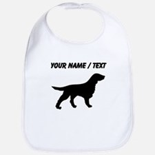 Custom Flat-Coated Retriever Silhouette Bib