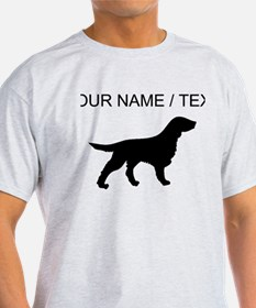 Custom Flat-Coated Retriever Silhouette T-Shirt