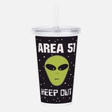 Area 51 Keep Out Acrylic Double-wall Tumbler