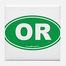 Oregon OR Euro Oval Tile Coaster