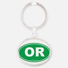 Oregon OR Euro Oval Oval Keychain