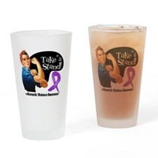 Domestic Violence Stand Drinking Glass