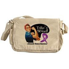 Domestic Violence Stand Messenger Bag