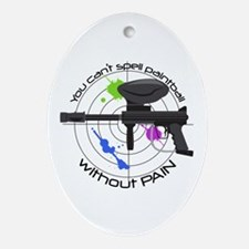 Spell Paintball Ornament (Oval)