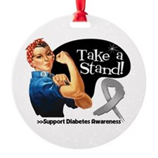 Diabetes Stand Round Ornament