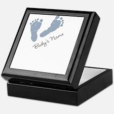 Baby Blue Footprints Keepsake Box