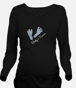 Cute Baby name Long Sleeve Maternity T-Shirt
