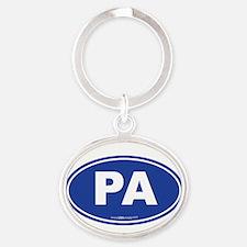 Pennsylvania PA Euro Oval Oval Keychain