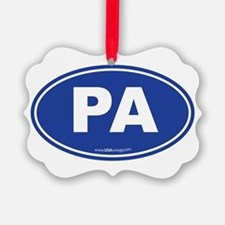 Pennsylvania PA Euro Oval Ornament