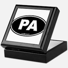 Pennsylvania PA Euro Oval Keepsake Box