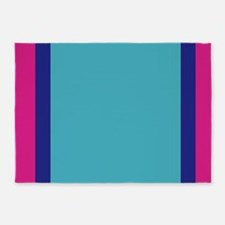 frozen color pink blue ice 5x7 5'x7'Area Rug