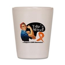 COPD Stand Shot Glass