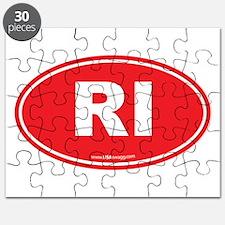Rhode Island RI Euro Oval Puzzle
