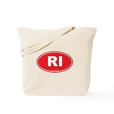 Rhode Island RI Euro Oval Tote Bag
