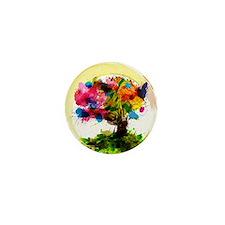 Watercolor Tree of Life Mini Button