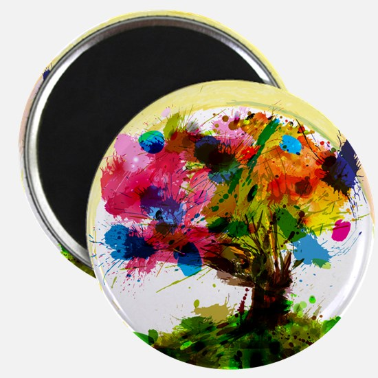 Watercolor Tree of Life Magnets