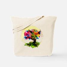 Watercolor Tree of Life Tote Bag