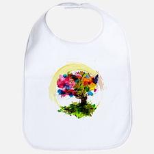 Watercolor Tree of Life Bib