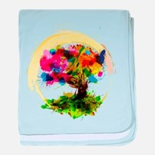 Watercolor Tree of Life baby blanket