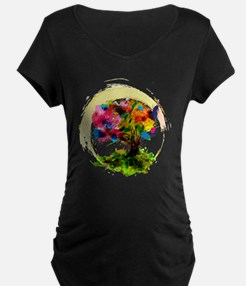 Watercolor Tree of Life Maternity T-Shirt