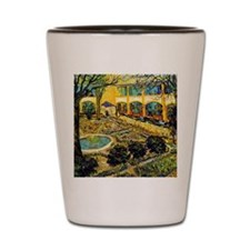 Van Gogh - The Cdourtyard of the Hospit Shot Glass