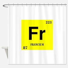 Francium Shower Curtain