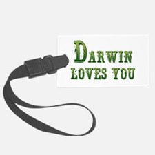 Darwin Loves You Luggage Tag