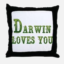 Darwin Loves You Throw Pillow