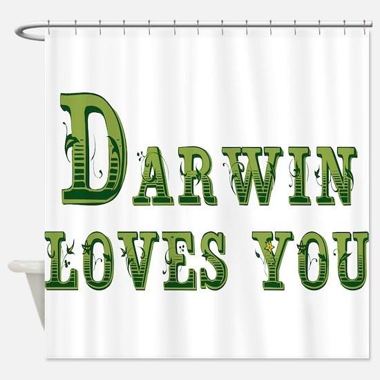 Darwin Loves You Shower Curtain