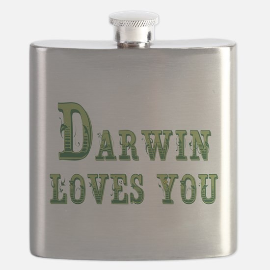 Darwin Loves You Flask