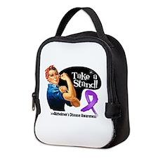 Alzheimers Disease Stand Neoprene Lunch Bag