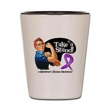 Alzheimers Disease Stand Shot Glass