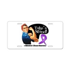 Alzheimers Disease Stand Aluminum License Plate