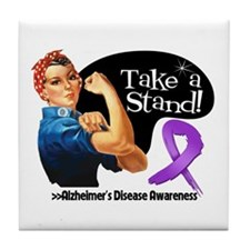 Alzheimers Disease Stand Tile Coaster