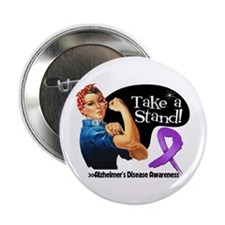 "Alzheimers Disease Stand 2.25"" Button"