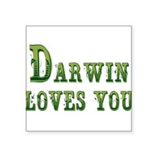 Darwin Loves You Sticker