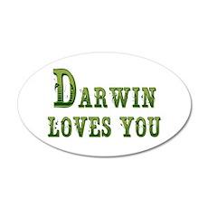 Darwin Loves You Wall Decal