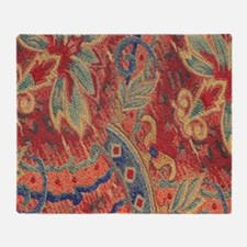 Floral Tapestry Throw Blanket