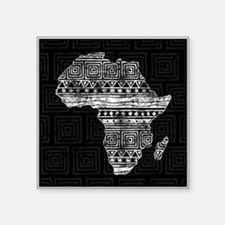 "Africa Pattern Square Sticker 3"" x 3"""