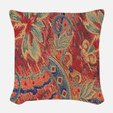Floral Tapestry Woven Throw Pillow