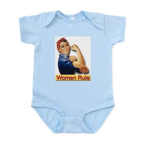 Women Rule Infant Creeper for Strong Women