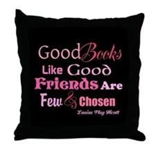 Books & Friends Throw Pillow